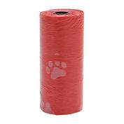 Kocome Pet Dog Multicolor 1Roll/15PCS Waste Poop Bag Poo Printing Degradable Clean-up