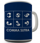 Twisted Envy Funny Comma Sutra Ceramic Tea Mug