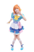 ROLECOS Aqours Takami Chika Sailor Suit Dress Cosplay Costume S