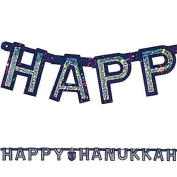Happy Hanukkah Banner - Prismatic 180cm Letter Banner Big City Bargains
