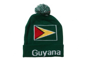 Guyana Country Flag Green Toque Hat With Pom Pom ..New