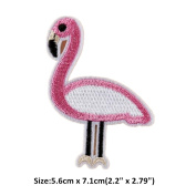 Ximkee(10 Pack)Cartoon Cute Flamingo Bird Embroidered Appliques Sew or Iron on Patches
