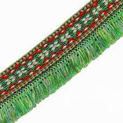 10yards Green Braided Fringe Trim Tassel Lace Ribbon Embroidery Tape Webbing Applique for Costumes Curtain T1492