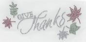 Thanksgiving Rhinestone Turkey Hot Fix Heat Press Transfer Rhinestone MOTIF Applique Happy Thanksgiving