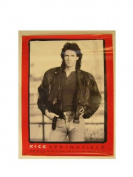 Rick Springfield Poster Red Black White