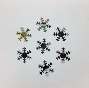 19mm Snowflake Snow Silver Metallic Sequin Loose Paillettes. Ornaments, embellishments, costumes, crafts in Silver