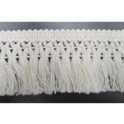 3.8cm Wide Cotton Tassel Fringe In Beige Pack of 10 Yards