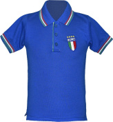 Italia Euro Football Championships Kids/Children Pique Polo Shirts 2016 Fans Supporter Shirts size 3/4ya to 11/12yr