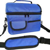 PuTwo Lunch Bag Insulated Tote Large Capacity with Adjustable Shoulder Strap Lunch Bag Allerbaby -New Blue