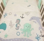 2 Piece Duvet Pillow Set For Crib, Cradle, Pram, Filling Baby Bedding Set - HEARTS WHITE