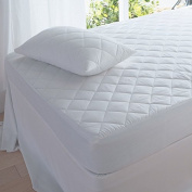 T & A Traders Polycotton Fitted Quilted Mattress Protector for Super King Size Bed