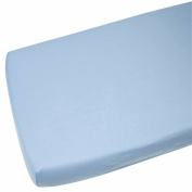 Fitted Sheet Compatible With Snuzpod Bedside Crib 100% Cotton - Blue-By For-Your-Little-One