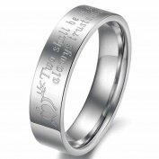 Alimab Jewelery Stainless Steel His Or Hers Promise Rings Ring Arrow Through Heart