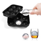 Ice Ball Maker Mould, GVDV Easy Release Flexible Silicone Round Spheres Ice Tray - Moulds 6 X 4.5cm Round Whiskey Ice Balls