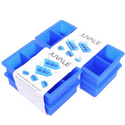 Giant Ice Cube Tray - Makes Big 5.1cm Ice Cubes - Set of 4 Silicone Trays to Make a Total of 28 Huge Ice Cubes