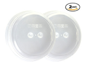 Splatter Guard Microwave Cover 2 Pack - BPA Free Dome Plate Dish Covers for Food by bogo Brands