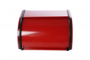 Roll Top Bread Box For Kitchen - Bread Bin Storage Container For Loaves, Pastries, and More 10 x 22cm x 14cm , Red by Juvale