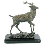 David Geenty Highland Monarch Cold Cast Bronze Stag Sculpture
