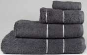 """linenHall """"Ultimate"""" 700gsm Charcoal Hand Towel 50cm x 90cm"""