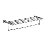 Aothpher Wall Mounted Stainless Steel Towel Rack Double Layer Towel Shelf ,Mirror Polishing