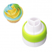 Demarkt Icing Piping Bag Nozzle Converter Tri-colour Cream Coupler Cake Decorating Tools