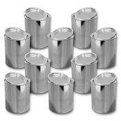 Lot of 10 metal boxes, tin with lid 1000 ml