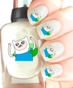Easy to use, High Quality Nail Art Decal Stickers For Every Occasion! Ideal Christmas Present / Gift - Great Stocking Filler Finn The Human, Adventure Time