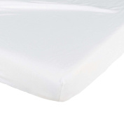 Tinéo Waterproof Fitted Sheet 60 x 120 cm White