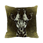 Warrantyll Throw Pillow Cover Black Painting Giraffe Pillow Case Home Couch Decorative Cushion 70cm *70cm