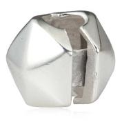 Irregular Shape Clip Charms 925 Sterling Silver Lock Stopper Charm Spacer Charm Fits Pandora Charm Bracelet
