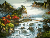 Arts Language Wooden Framed 41cm x 50cm Paint by Numbers Diy Painting Yunshuiyao