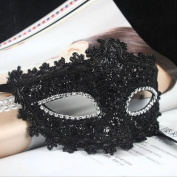 FENICAL Masquerade Mask Venetian Lace Crystal Rhinestones Cosplay Mask for Halloween Masquerade Costume Party