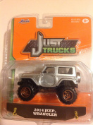 Jada 1:64 Just Trucks 2014 Jeep Wrangler Silver #083