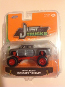 Jada 1:64 Just Trucks 1999 Chevy Silverado Dooley Grey #081