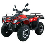 DONGFANG 300cc ATV Cougar CVT Water Cooled Four Wheelers 4 Stroke Engine Quads Red