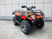 DONGFANG 300cc ATV Cougar CVT Water Cooled Four Wheelers 4 Stroke Engine Quads Orange
