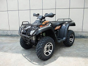 DONGFANG 300cc ATV Cougar CVT Water Cooled Four Wheelers 4 Stroke Engine Quads Black