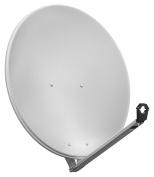 Goobay 80 cm Aluminium Satellite Mirror - light Grey