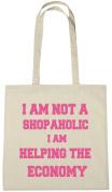 I Am Not A Shopoholic Cotton Shopping Tote Bag, Funny Gift Bag For Women