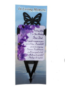 Dad Birthday Memorial Laminated Card With Butterfly Stake Holder And Special Message By Homestreet