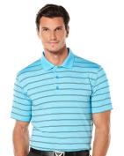 Callaway Men's Short Sleeve Opti-Dri Striped Polo Tee