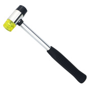 Ogrmar 25MM Dual Head Plastic And Rubber Hammer Metal Mallet For Jewellers