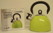 Prima 2.5L Stainless Steel Whistling Kettle in Green 11123C