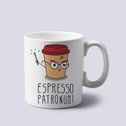 """Harry Potter """"Espresso Patronum"""" 330ml Ceramic Mug"""