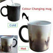 Colour Changing Coffee Mug Magic black Heat Sensitive Ceramic Tea Water Cup