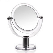 Hifina Vanity Mirror / Makeup Mirror / Rotating Cosmetic Mirror, Double Sided, 3 x Magnification