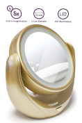 Cosmetic mirror make up mirror vanity mirror portable shaving CHARGE LED Lighting Normal / 5 Specialists Vergörßerung