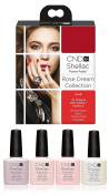 CND Shellac UV/LED Power Polish, Romantique/Beau/Clearly Pink/Negligee 7.3 ml - Pack of 4