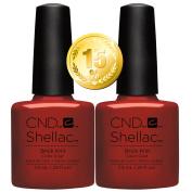 CND Shellac UV/LED Power Polish, Brick Knit 7.3 ml - Pack of 2