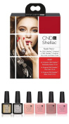 CND Shellac UV/LED Power Polish Intimates Collection/Top/Base 7.3 ml - Pack of 6